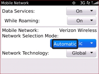 Configuración Network Selection