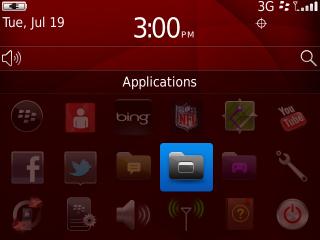 Bandeja All en la pantalla de inicio con Applications