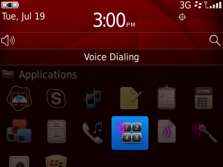 Applications y opción Voice Dialing