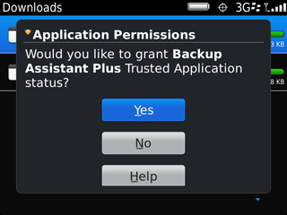 Confirm Trusted Application Status