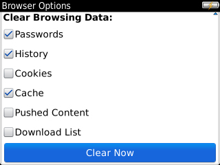 Clear Browsing Data y Clear Now
