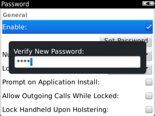 Enable password