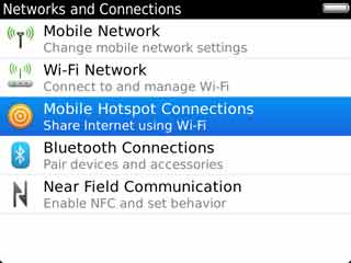 Mobile Hotspot Connections