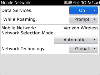 Mobile Network with Data Services