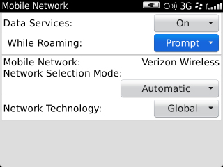Mobile Network with While Roaming