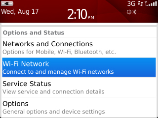 Set Up, Services and Options with Set Up Wi-Fi Network