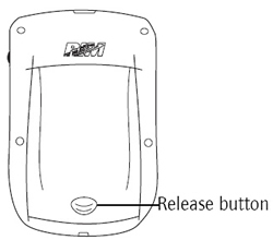 Battery cover release button