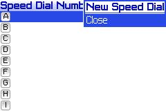 Adding a speed dial entry - Step 4