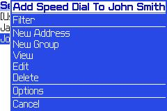 Adding a speed dial entry from the address book- Step 2