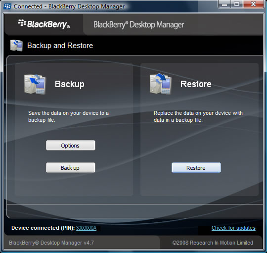 Backup and Restore with Restore