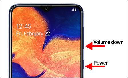 Samsung Galaxy A10e Capture A Screenshot Verizon