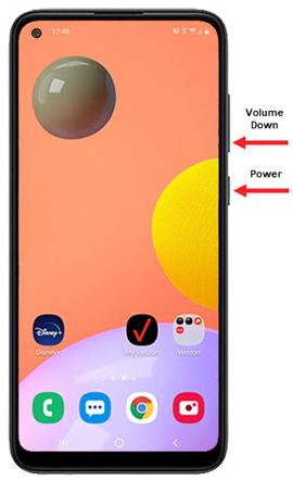 Samsung Galaxy A11 Capture A Screenshot Verizon