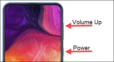 Power & Volume Up button