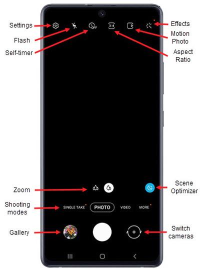 Samsung Galaxy A71 5g Uw Common Camera Settings Verizon