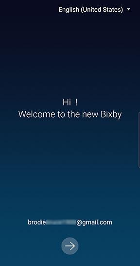 Bixby setup confirm email