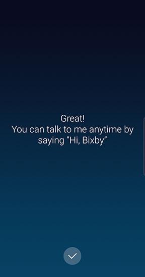 Bixby setup complete