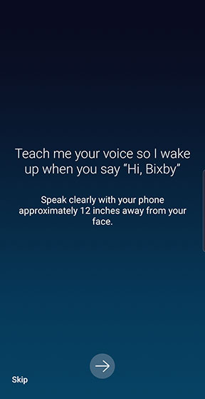 Teach Bixby your voice