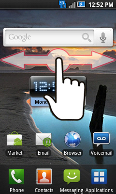 Home screen navigating