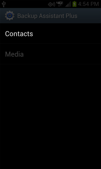 Contacts en Backup Assistant Plus
