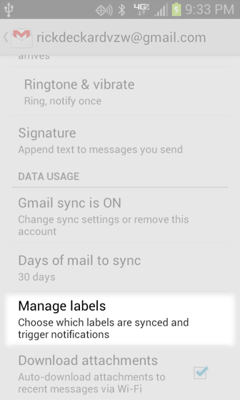 Gmail Settings Manage Labels