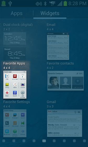 Recently used application menu