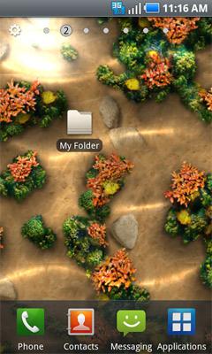 Carpeta en la pantalla de inicio