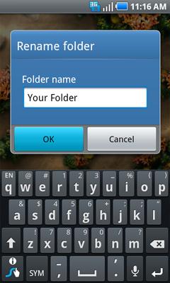 Rename folder y opción OK