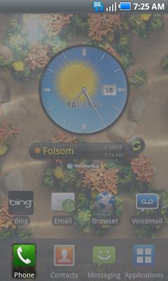 Pantalla de inicio e ícono Phone