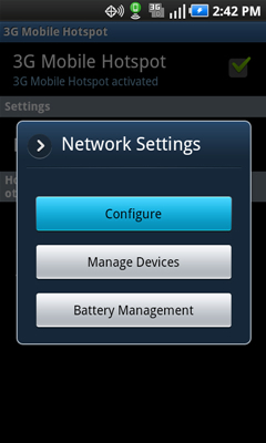 Network Settings with Configure
