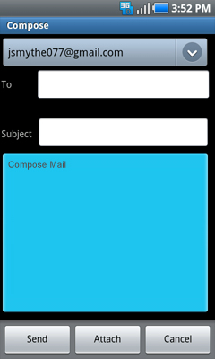 Selecting text field