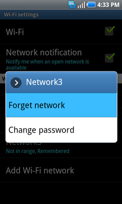 Forget network