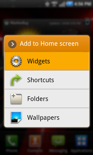 Add to home screen with Widgets