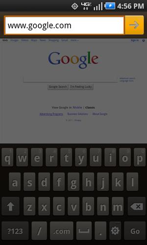 Dirección URL con flecha derecha