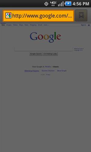 Browser con campo URL