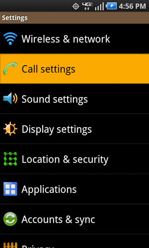 Settings with Call settings
