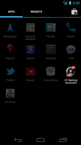 Apps with VZ Backup Assistant