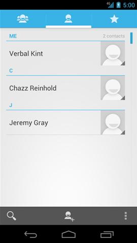 Contacts con contactos disponibles