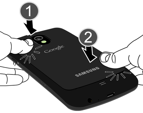 Lock battery cover into place