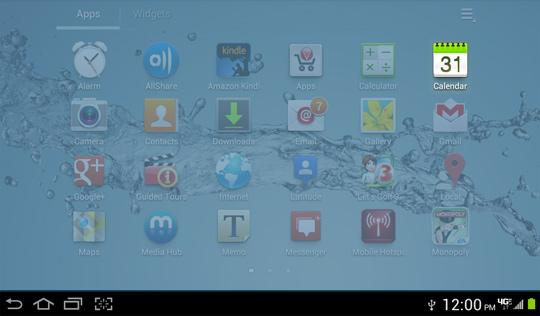Menú Apps, Calendar