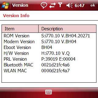 The MAC address is displayed (beside WLAN MAC)