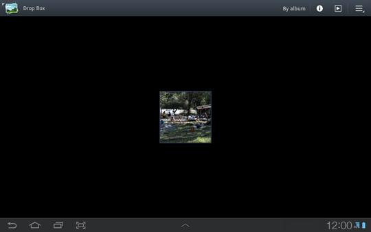 Pantalla Album, lista de imágenes