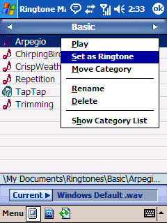 Set as Ringtone