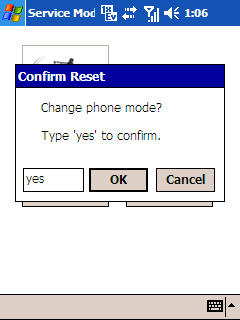 Image of Confirm reset