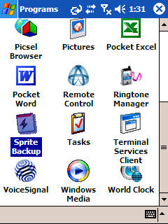 Image of Sprite Backup