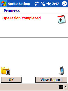 Image of Operation Complete message.