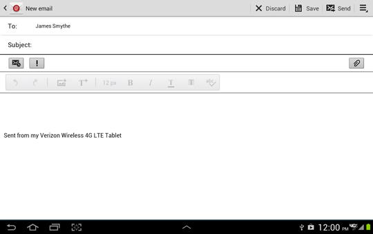 Escribir email, Asunto