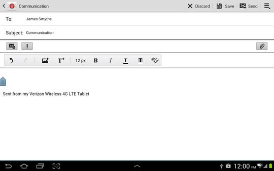 Escribir email, Mensaje