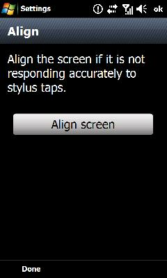 Oprime Align Screen