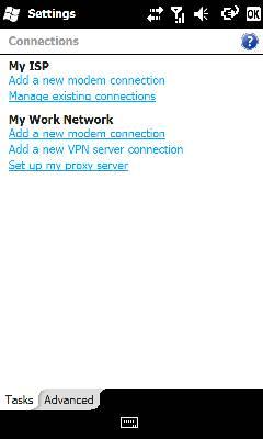 En la pestaña Tasks, seleccionar Manage existing connections