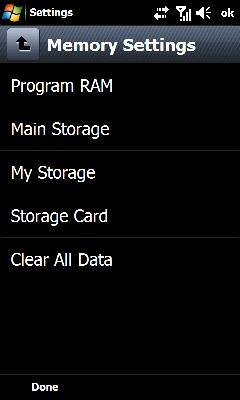 Oprime Program RAM